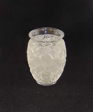 """Lalique """"Bagatelle"""" glass vase"""