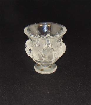 """Lalique """"Dampierre"""" glass vase"""