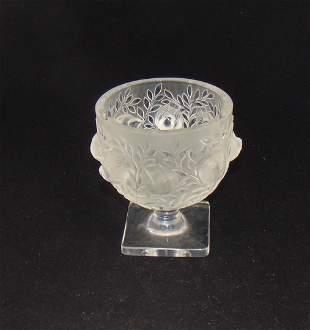 "Lalique ""Elizabeth"" glass vase"