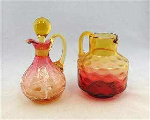 Two Vintage glass items