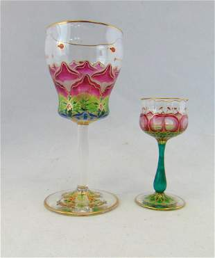 Meyrs Neff translucent glass goblets