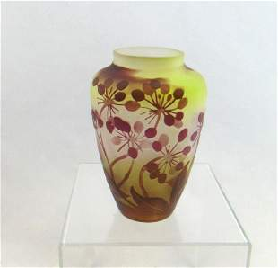 Galle French cameo glass vase