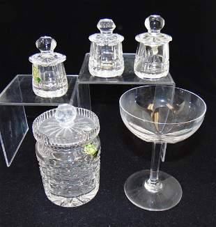 Five piece grouping of crystal