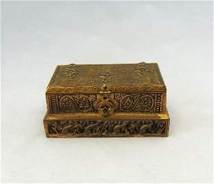 Tiffany bronze metal box