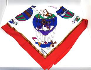 Hermes silk scarf with balloons