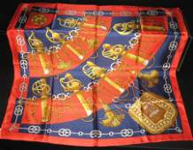 "Hermes ""Cliquetis"" silk scarf and box"