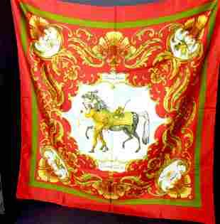 """Hermes """"Cheval Turc"""" silk scarf"""