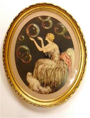 Louis Icart later framed print