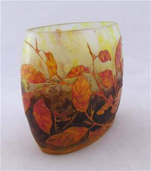 Daum Nancy French cameo vase