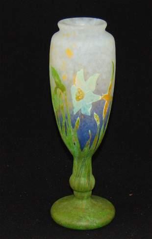 Rare Daum Nancy French cameo vase