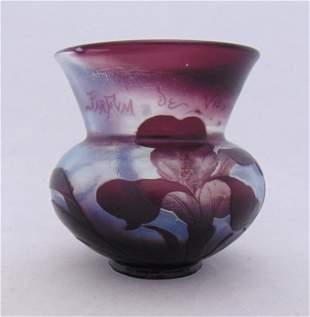 Daum Nancy French cameo glass vase