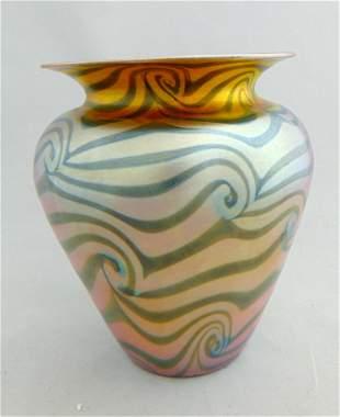Durand King Tut iridescent vase