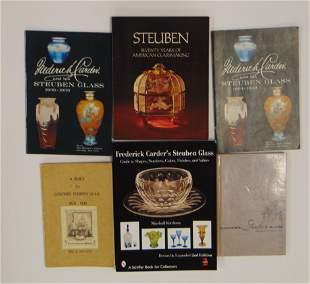 Six books on Steuben glass