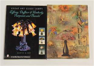 Two books on Art Glass Lamps