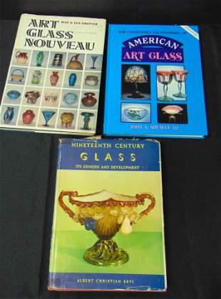 Three books on Art Glass
