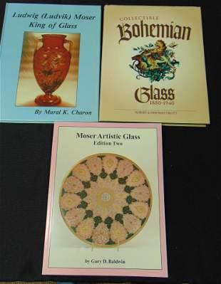 Three Moser/Bohemian glass books