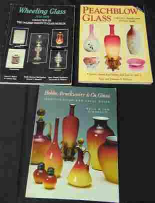 Three Victorian Art glass books