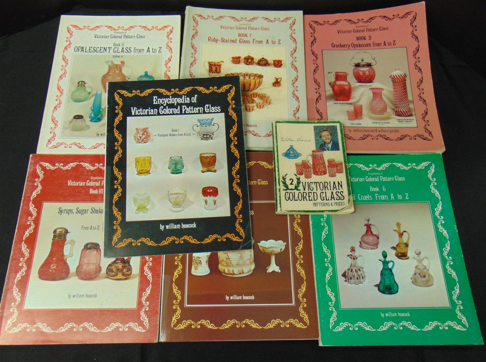 Group of Heacock glass books
