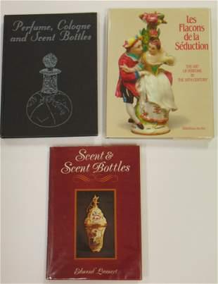 Three books on perfume bottles