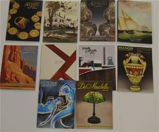 Ten various catalogs