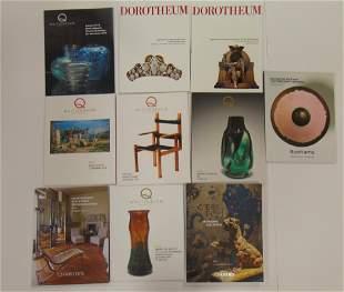 Ten various European catalogs