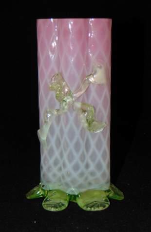 Stevens and Williams Vaseline vase