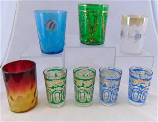 Group of eight Vintage tumblers