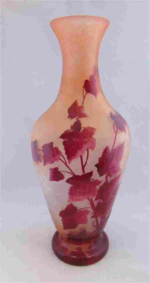 Monumental Legras French cameo vase