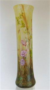 Monumental Daum Nancy glass vase