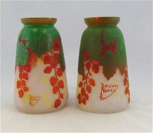 Pair of Daum Nancy cameo shades