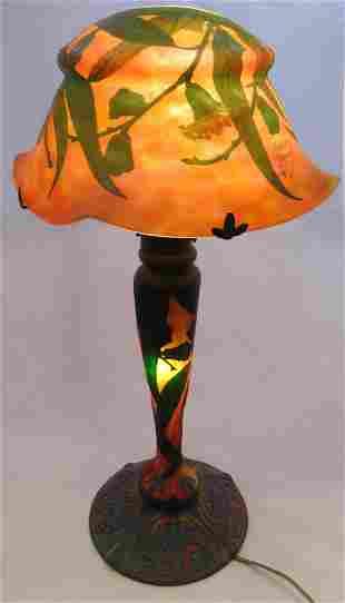 Daum Nancy French cameo lamp