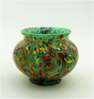 Loetz Ausfuhrung 237 spatter ware vase