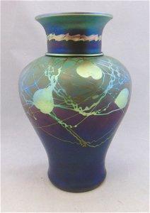 Magnificent Steuben Tyrian glass vase