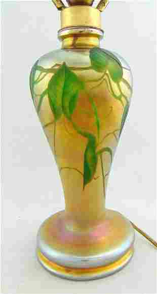 Tiffany Gold Favrile glass lamp base