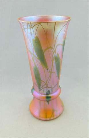 Durand Marigold decorated vase