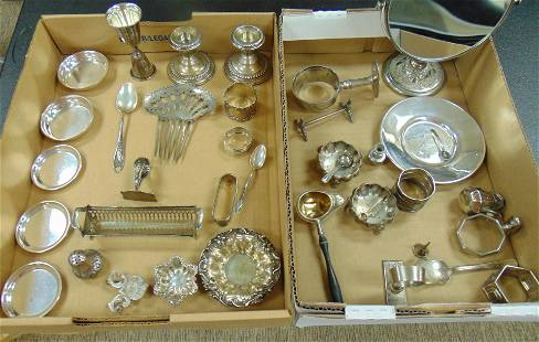 Group of Sterling and plate