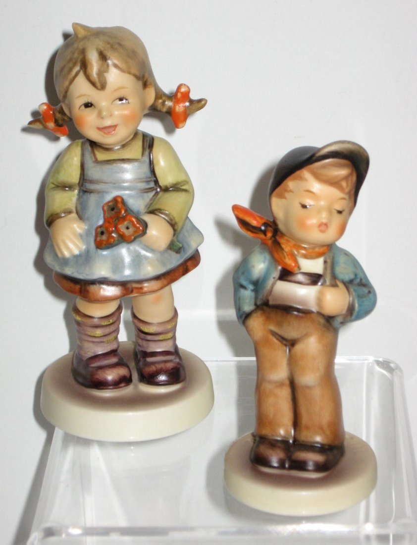 "Two Hummel club figurine #548 ""Flower Girl"""