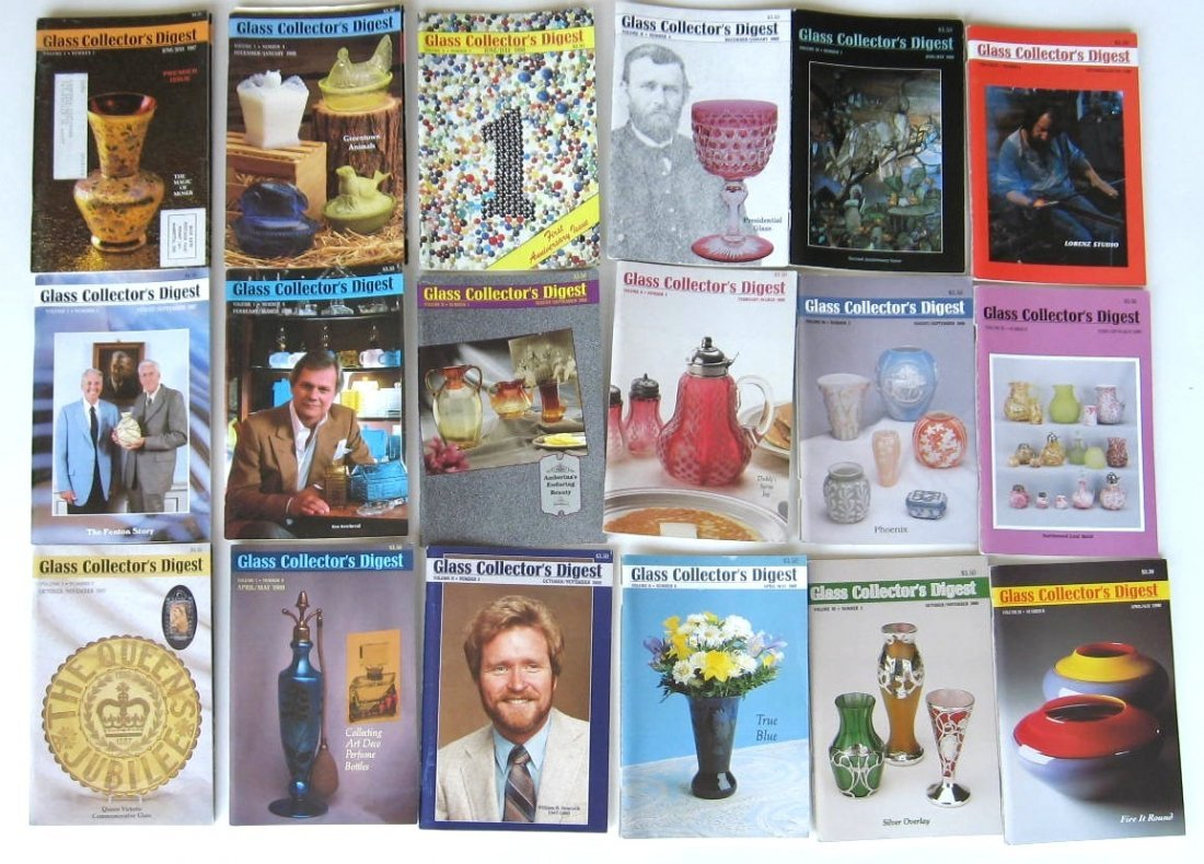 1: Collection of 90 Glass Collector Digest
