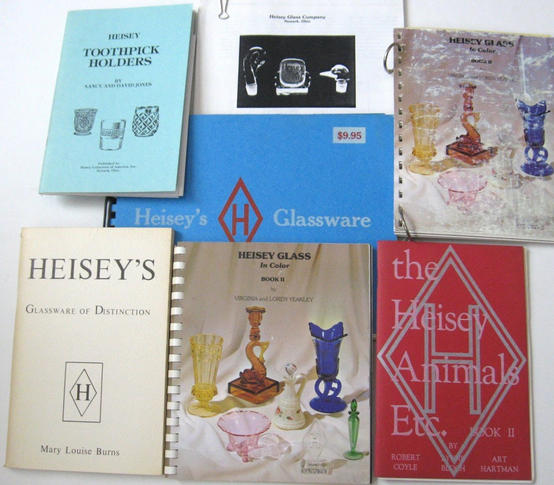 18: 7 Books and publication on Heisey glass,
