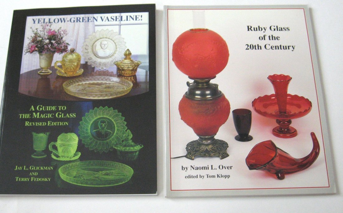 "20: 2 glass books ""Ruby Glass of the 20th century"""