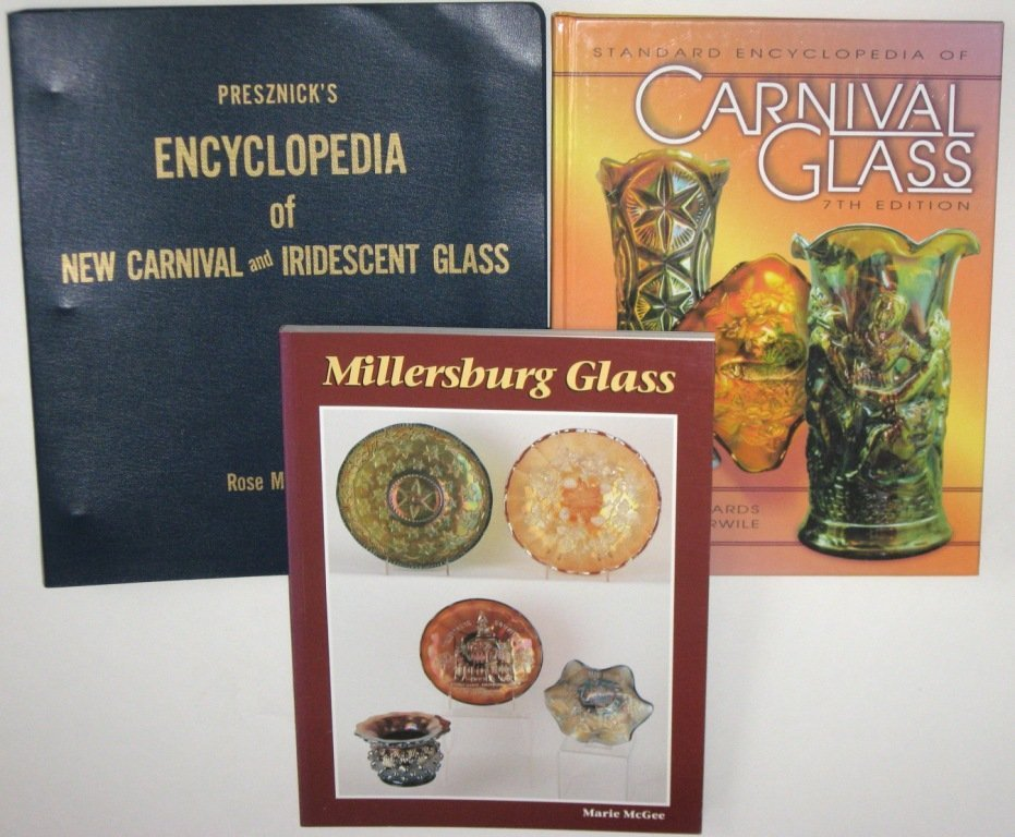"22: 3 books ""Millersburg Glass"" by McGee"