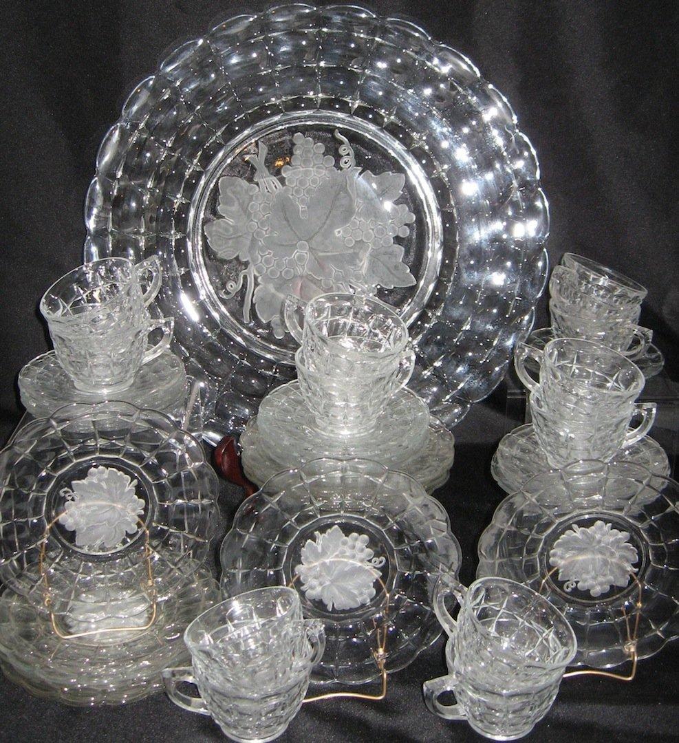 """250: Indiana Glass """"Constellation"""" dessert set,"""