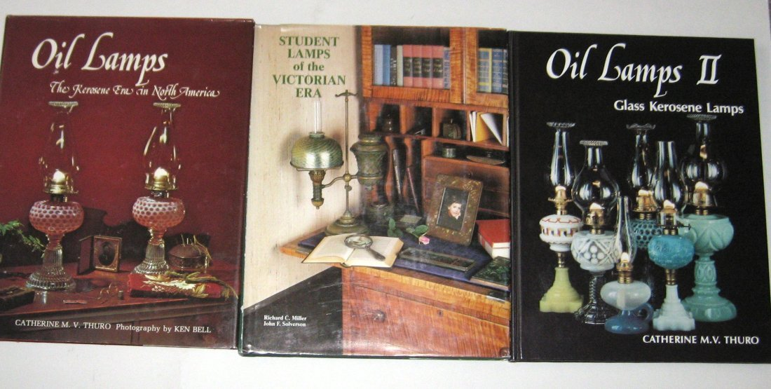3 books on Oil Lamps,
