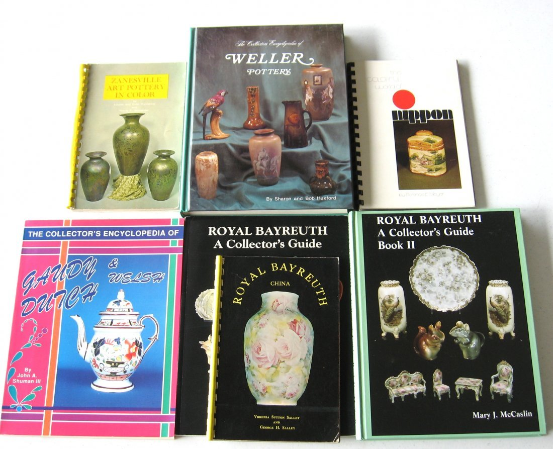 7 books on Pottery and porcelain,