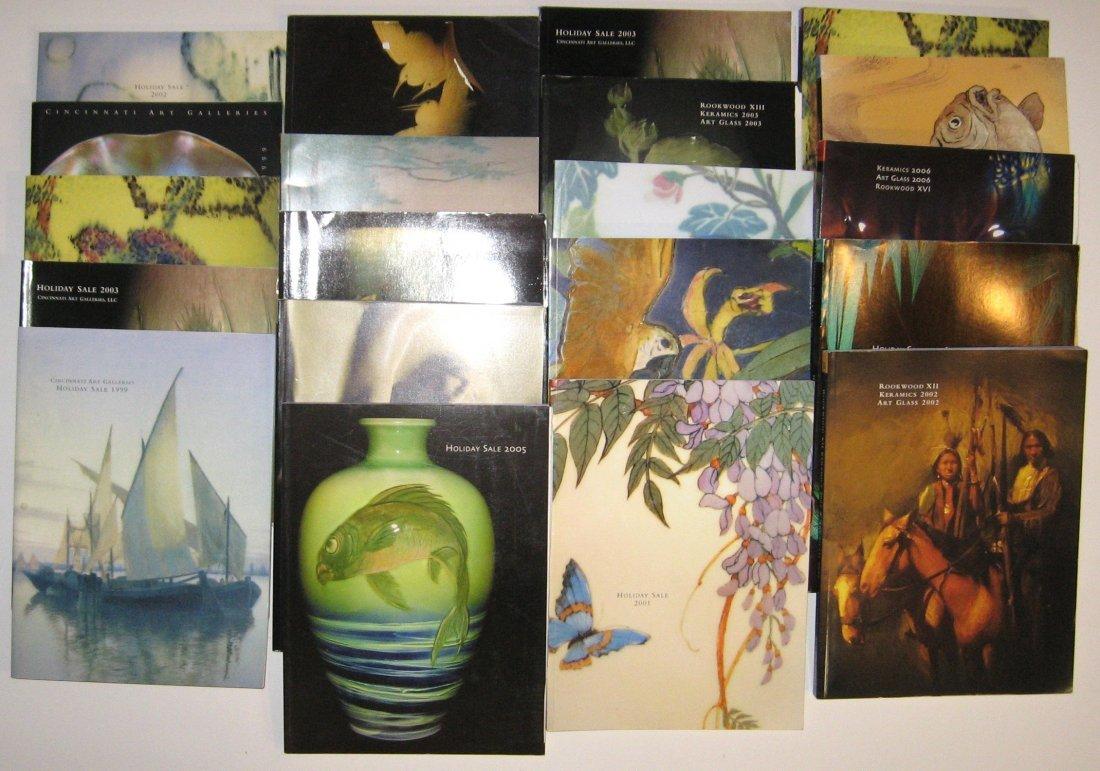 20 Cincinnati Art Gallery catalogs,