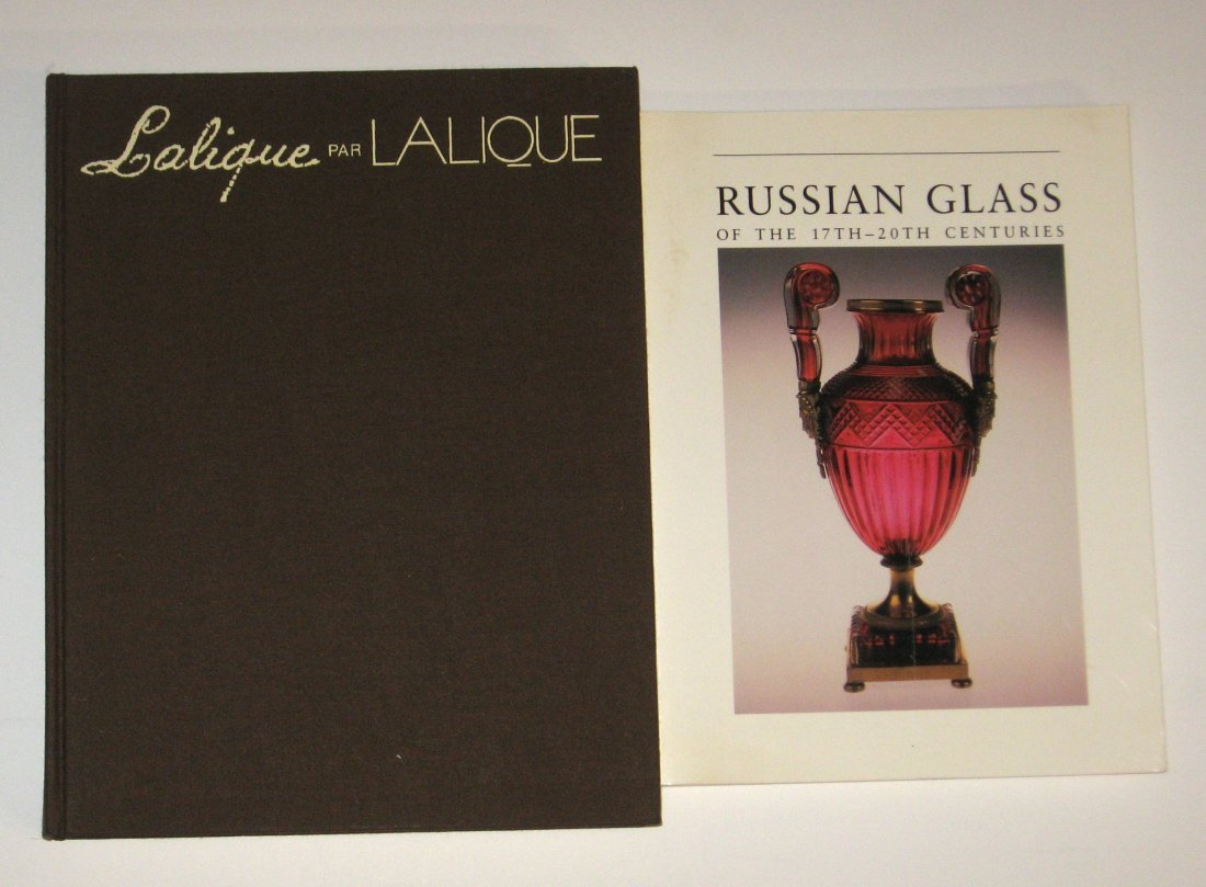 Two books, Lalique and Russian Glass,