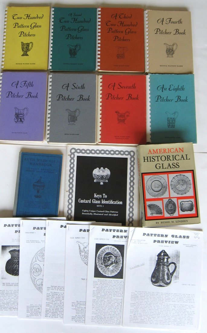26 books/publications on pressed glass
