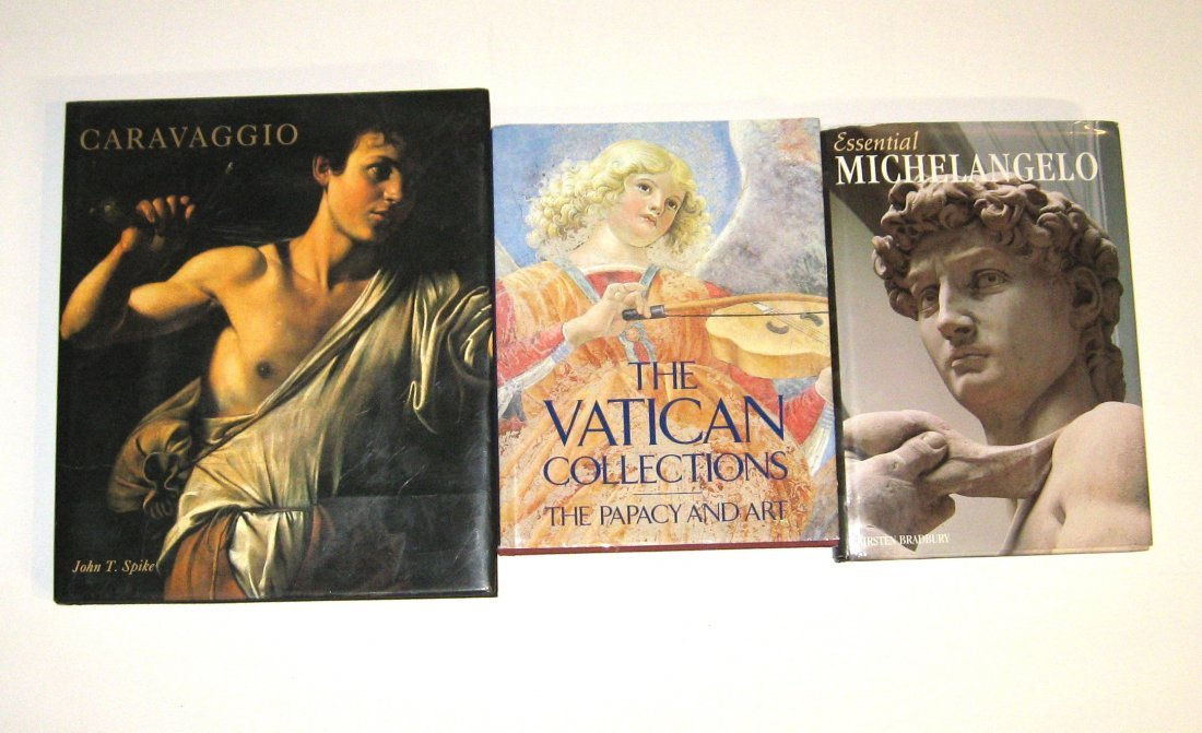 "3 books, ""Essential Michelangelo"""