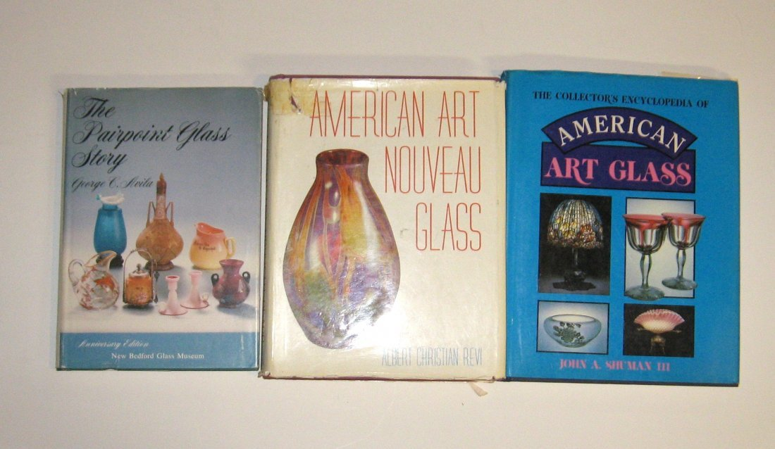 """3 Art Glass books """"The Pairpoint Story"""""""
