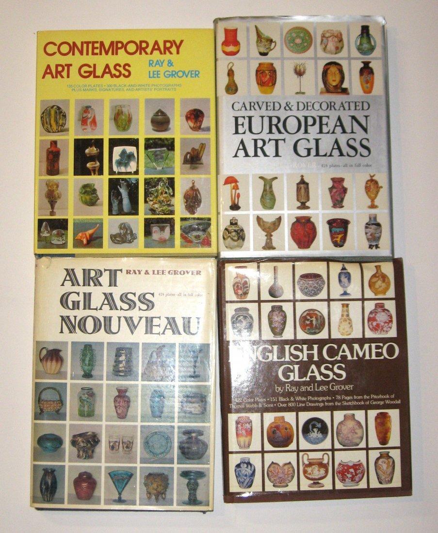 Set of Four Grover Art Glass books,